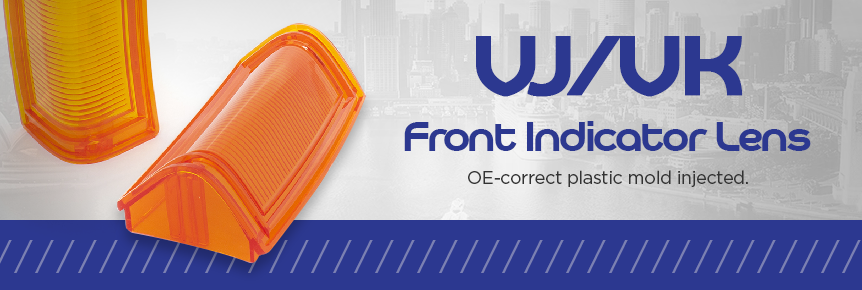 VJ/VK Front Indicator Lens Set. OE-Correct plastic mold injected. Was $149, now $99 a pair!
