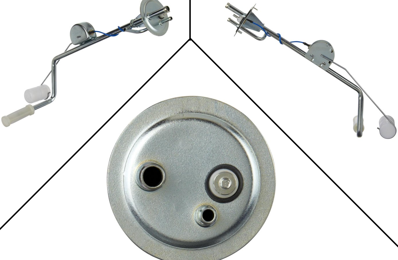 """Fuel Tank Sender Unit (w/ seal, lock ring, & filter) : 3/8"""" Outlet , With Fuel Return : Suit 1971 - 1973 Dodge / Plymouth"""