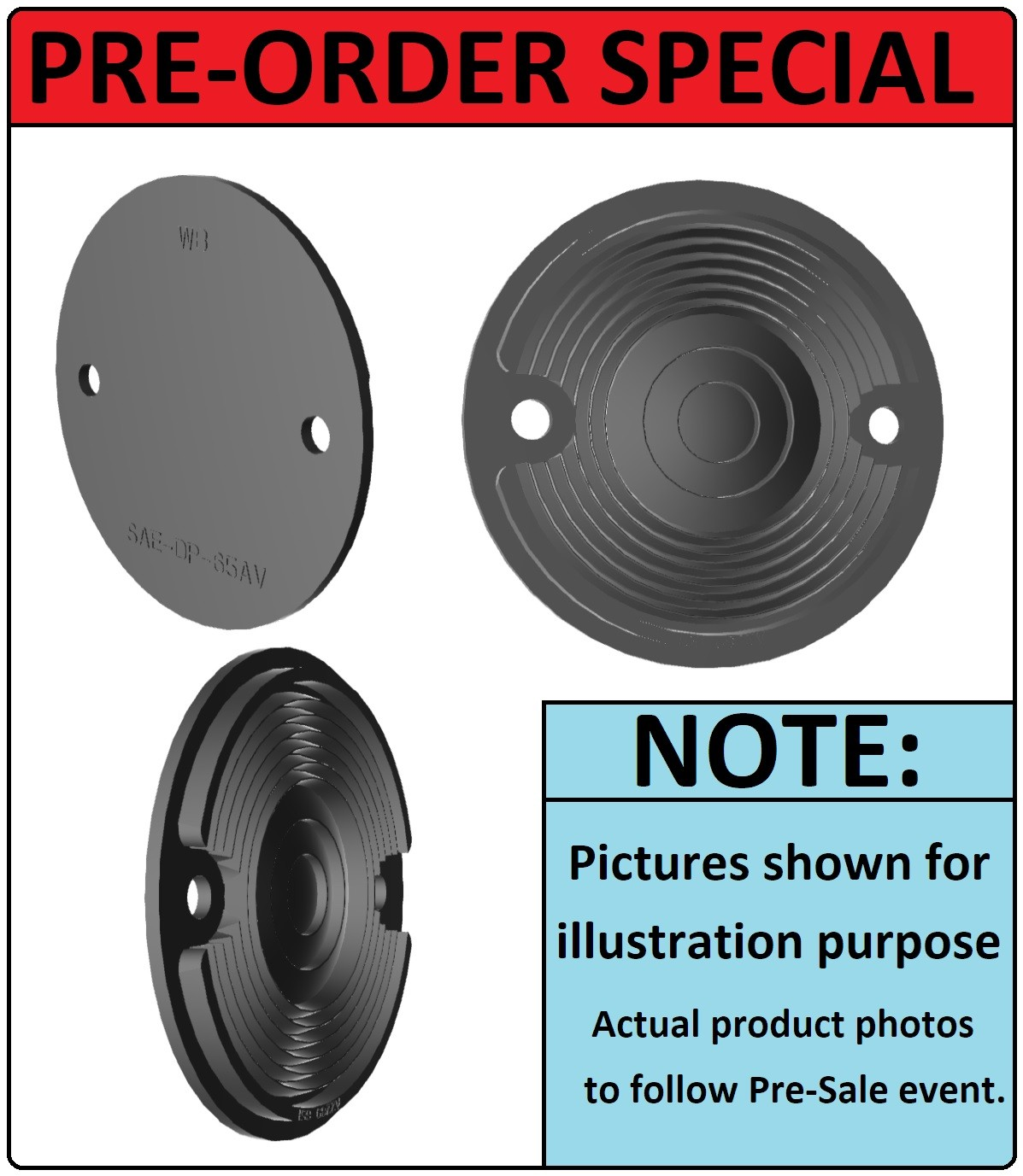 PRE-ORDER SALE : Factory Correct Reproduction Front indicator Lens EACH : CLEAR :  suit AP6  (HP's New Mold-Injected Lens Range).