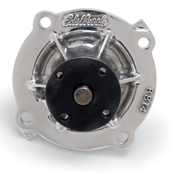 Edelbrock Victor Series Aluminium Water Pump (4 bolt) : Finish : Polished : Suit Big Block 361/383/400/426/440ci
