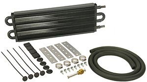 Derale Automatic Transmission Oil Cooler Kit : Small Rectangular