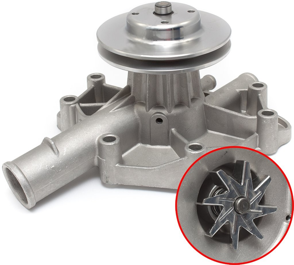 Alloy Water Pump & Pulley : High volume type : Suit Small Block (running thermal clutch drive)