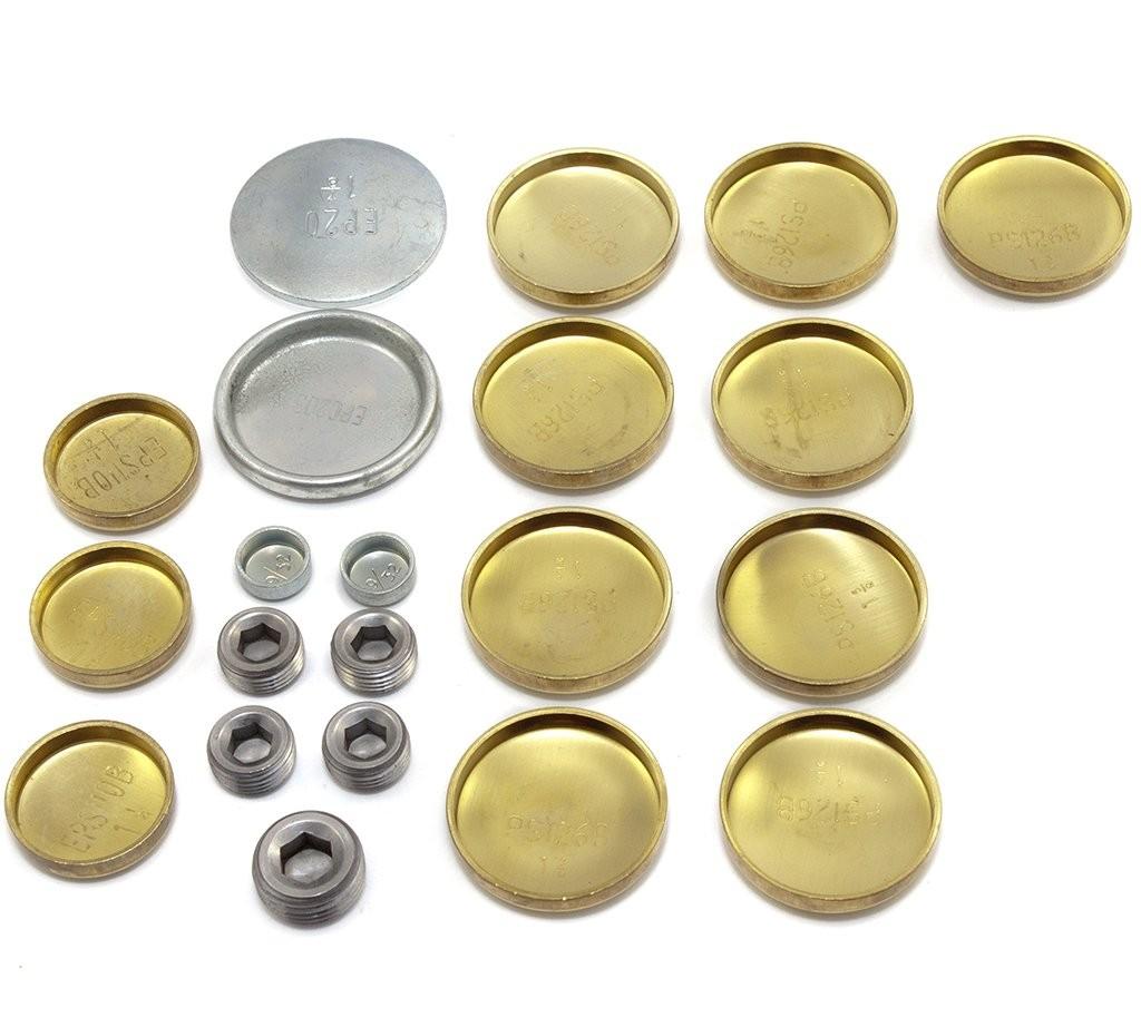 Brass Welch Plug Kit Block Amp Gallery Suit Small Block