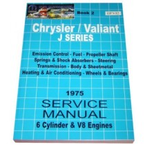 Workshop Service Manual : Valiant 1973-1975 VJ (book 2)
