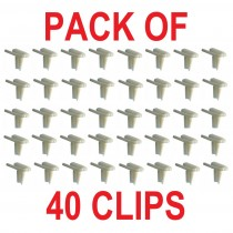 "Nylon Universal Moulding Clip : Suit 3/4"" To 1"" moulding : BULK 40 PACK"