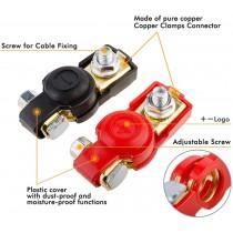 Negative and Positive Car Battery Terminal Clamp Clip Con : 2pcs