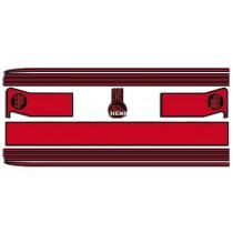 Body Stripe Kit : VG Pacer Sedan  A88/A84  (Black & RED)