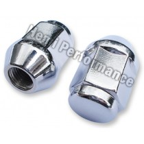 "Chrome Acron Wheel Nut : 1/2"" : Left hand thread"