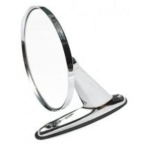 Universal Round Door Side Mirror : Chrome