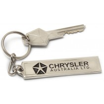 """Chrysler Aust. Ltd"" Plate Badge Key Tag"