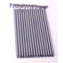 """Cut to Fit Pushrods : 3/8 x .060 Wall 9.5"""" Length : Cup And Ball (Press fit CUP Tip)"""