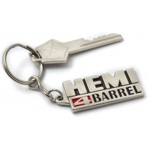 """Hemi 4 BARREL"" Badge Key Tag"