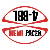 """Hemi Pacer / 4-BBL"" Air Cleaner Decal : suit VG Pacer E34 (original part#s 3547055, 3543225)"
