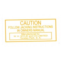 Jack Base Plate 'Caution' Decal
