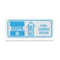 Fuel Filter Decal (AP5/AP6/VC/VE/VF/VG/VH)