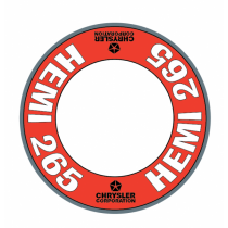 "Custom ""Hemi 265"" Air Cleaner Decal (Red Version)"