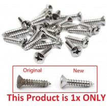 Chrome Plated Phillips Screw : suit Door Entry Scuff Plates