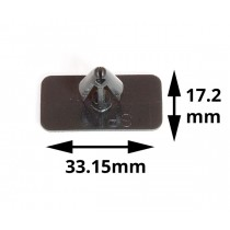 Universal Body & Sill Mold Clip : Clip-in : 33.15mm x 17.20mm