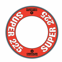 "Custom ""Super 225"" Air Cleaner Decal (Red Version)"