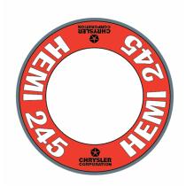 "Custom ""Hemi 245"" Air Cleaner Decal (Red Version)"