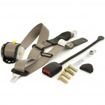 Front Retractable Lap-Sash Seat Belt with Drop-Link : suit Charger w/ bucket seats (400mm stalk) : Cappuccino