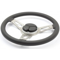 Complete Steering Wheel Kit, Leather Stitched : R/T 3 Spoke Look-alike (Nostalgia series) : suit AP5/AP6/VC/VE/VF Boss Kit