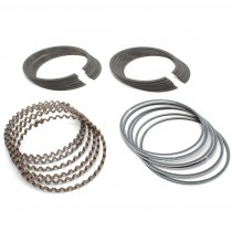 "Piston Ring Engine Set : Black Cast Iron : .000"" (standard) : suit Slant 6"