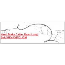 Hand Brake Cable, Rear (Long) : suit VH/VJ/VK/CL/CM