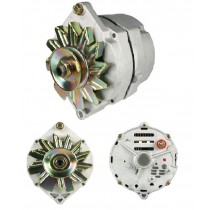 New Alternator with Zinc Steel Fan : 90 AMP : GM/Delco style - NON Chrome - Factory Looks