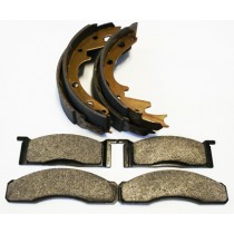 "Rear Brake Shoe & Front Brake Pad Package : suit 9"" drums & VG/VH calipers"