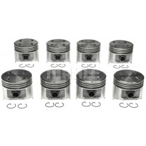 "Mahle/Clevite Cast Alloy Hypereutectic Flat-Top Piston Set : suit Small Block 318ci (.030"" / 3.940"")"
