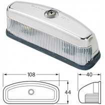 HELLA : Rectangle Licence Plate Light : 12v Incandescent : 108mm X 44mm Base : 40mm Height