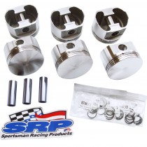 "SRP Race Series  Flat Top Forged Piston Set : Suit Hemi 6 245 (.040"" / 3.800"") Compression Height 1.700"