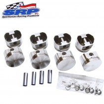 "SRP Race Series Dish Top Forged Piston Set : Suit Small Block 410ci Stroker (340ci/360ci + 4.00"" Stroker Crankshaft) ( 4.040"") Compression Height 1.460 : -16.9cc"