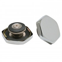 "Triple chrome plated steel Hex-Style Radiator Cap (16psi) : ""SAE 14-18 PSI Range"""