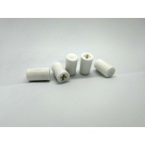 Reproduction Push Button Radio Knobs : White : Set of 5 : Suit SV1 / RV1