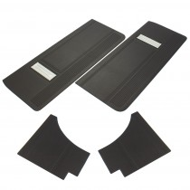 Reproduction Door Card Trim Set Charger RT Black with Silver X1 IMG_5324 Small.jpg