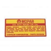 mopar do not wash or oildecal ap6.vc.ve 116.88642.jpg