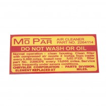 mopar do not wash or oil decal RV1.SV1 116.32423.jpg