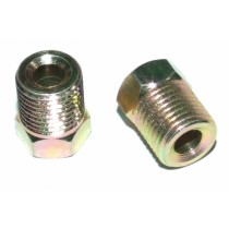 "Brake Tube Nut, 3/16"" Pipe, 7/16 (15mm thread length), Use with SAE flare (45 degrees/inverted/double)"
