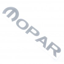 """MOPAR"" Decal (Shadow Chrome) : suit Small Block Fabricated Tappet Covers (Die-Cut)"