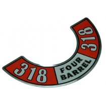 """318 Four-Barrel"" Air Cleaner Decal"