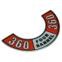 """360 Four-Barrel"" Air Cleaner Decal"