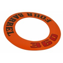 """360 Four-Barrel"" Air Cleaner Decal (Orange)"