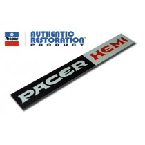 """Pacer Hemi"" Interior Nameplate Insert Decal : suit VH Pacer"