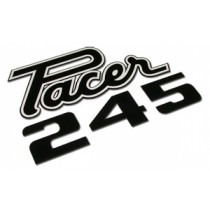 """Pacer-245"" Deck Lid Decal : VG Pacer Hardtop & Sedan (Original Part #4913Fw1-White)"