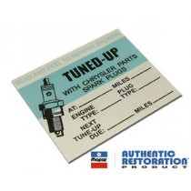 "Chrysler ""Tune-Up"" Service Decal"