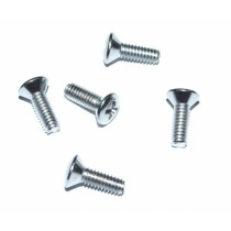 Chrome-plated Countersunk Machine Screw Set (5x) : Radiused (1/2'')