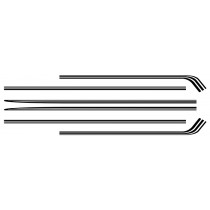 Body Stripe Kit : Black :  VK Valiant Charger (A60)