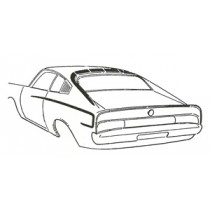Charger Body Stripe Package : Black stick on  : (A54 Option)